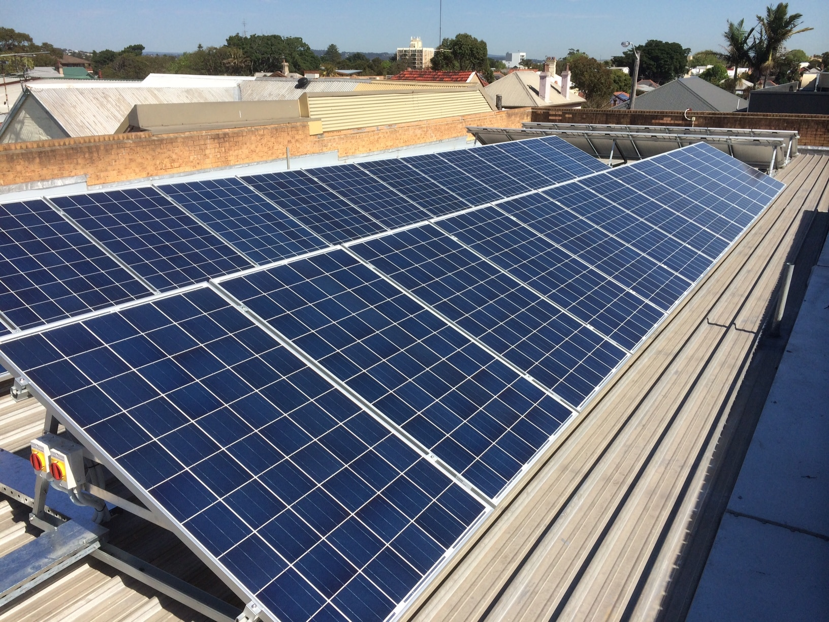 commercial solar power installation