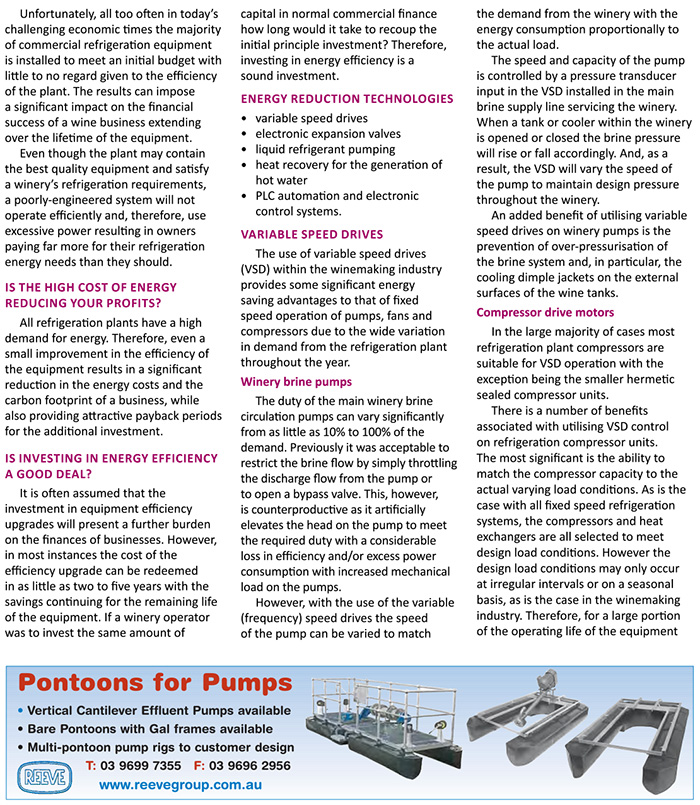 Clements Refrigeration Blog Viticulture Journal